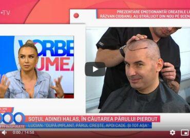 Despre operația de implant de păr la Vorbește lumea (PRO TV)